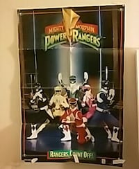 Original power ranger poster.