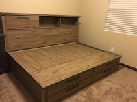 BED FRAME WITH BED MATTRESS  2059 mi