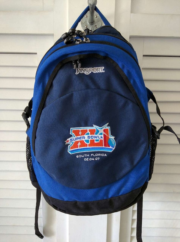 6bc61697dd Used Blue JanSport Backpack Super Bowl XLI Brand New for sale in ...