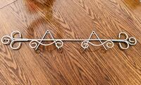 SILVER 2 PLATES WALL RACK - SUPPORT MURAL ARGENT 2 ASSIETTES Laval, H7P 1Z7