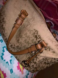 monogrammed brown Michael Kors leather tote bag Gaithersburg