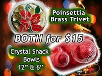 Holiday Gathering - Trivet & Snack Bowls - BOTH for $15  34 km