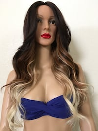 24 inch long wavy layered ombré mixed colors wig heat resistant synthetic very high quality silk smooth texture . Las Vegas, 89144