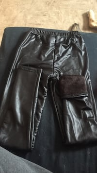 Black leather furry tights St Catharines, L2R 4A9