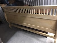 Artisan Made Pine Sleigh Headboard and Frame - King Delray Beach