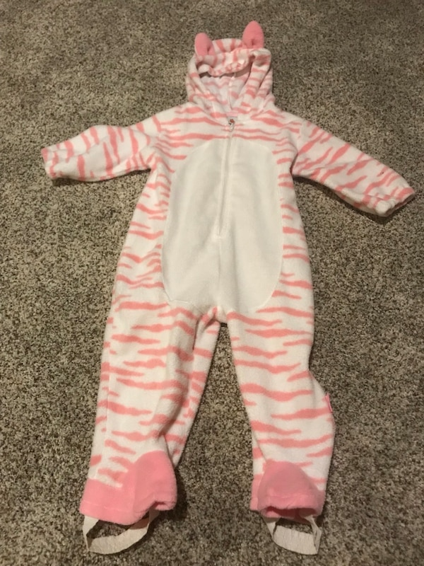 fca485b6215d Used Pink n white tiger costume  warm cover up for child 12 months for sale  in West Jordan - letgo