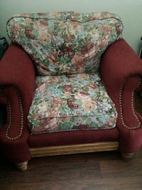 brown and green floral sofa chair Rosamond, 93560