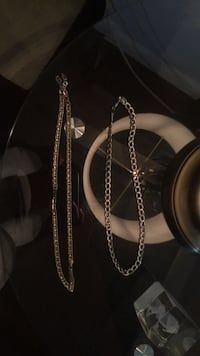 2 silver chains price is Lowest I'll go is 25 Hamilton, L8H 5J7