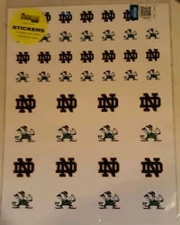 Notre Dame Fighting Irish Stickers 2 Sheets Portsmouth, 23701