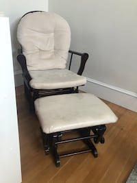 Glider rocking chair and ottoman