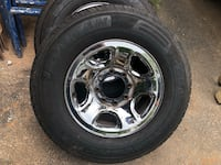 chrome 5-spoke car wheel with tire Manassas, 20111