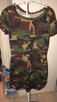 Med Camo fitted dress  Toronto
