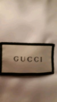 black and white  satin Gucci draw string bag St. Catharines, L2M 4G1