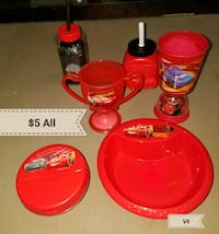 Cars brand plates and cups  Erath, 70533