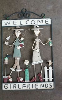 Garden Art Hanging metal WELCOME GIRLFRIENDS  Sacramento, 95825