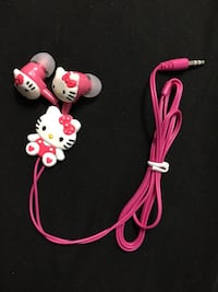 Hello Kitty headphone earbuds/never used