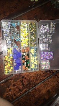 Peruvian hand painted beads with organizer  Fresno, 93704