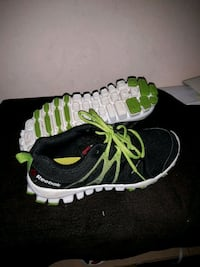 pair of black-and-green Adidas running shoes Mississauga, L5M 6L4