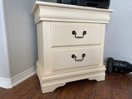 Beige side drawer