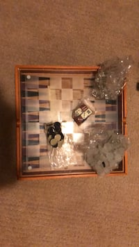 Glass checkers board with storage  Spruce Grove, T7X 1E2