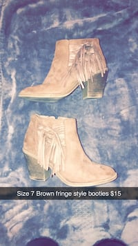 Tan booties Size 8 Mission, 57555