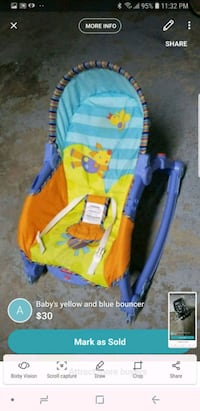 baby's yellow and blue stroller Mississauga, L5L 3H1