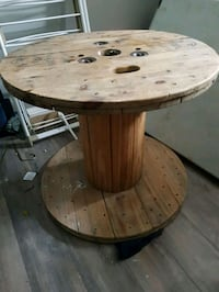 Wooden spool/table