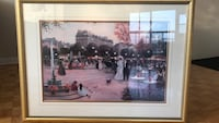 Large Painting (scene of Paris) 80cmx110cm Brossard, J4X