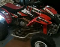 red and black Monster ATV