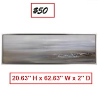 AJ- BRAND NEW- Abstract Landscape I by Sanjay Patel Framed Painting Print on Wrapped Canvas Mississauga