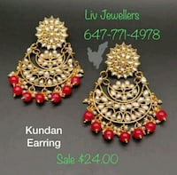 gold and red beaded necklace Brampton, L6Y 3M9