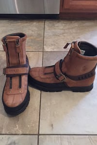 Men's leather polo boots gently used size 12 Centreville, 20120