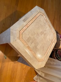 Mainland Smith Casa Bisque Tessellated Stone Side Table Bethesda