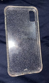 iPhone clear white sparkle case