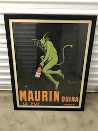 Framed Maurin Quina poster
