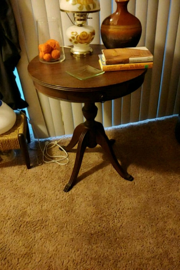 Table with pull out draw