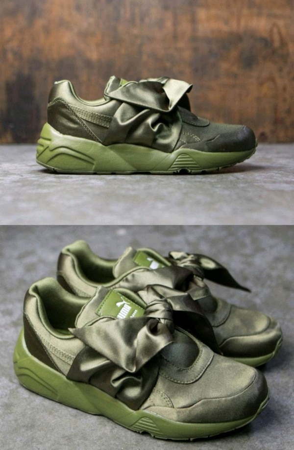 new style cdd87 2cedf NEW OLIVE FENTY PUMA RIHANNA BOW SNEAKERS WOMENS S