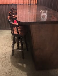 Hand crafted bar w/ three bar stools (OBO)