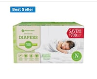 3 Cases of Newborn Diapers (300 Diapers) Charlotte, 28278