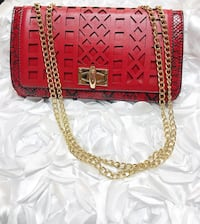 NEW! Gold Chain Red Bag Vauxhall, 07088