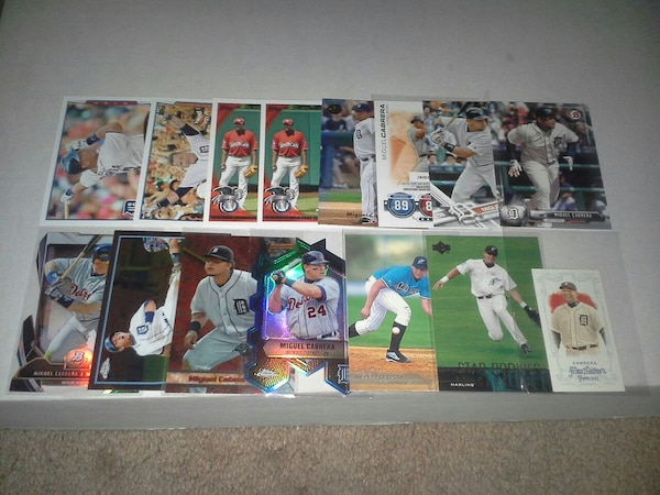 Miguel Cabrera 15 Baseball Card Collection