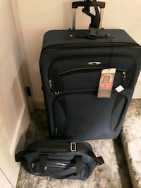 Skyway Luggage with wheels. Also has small carry on.  Alexandria, 22304