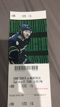 Hockey tickets, Vancouver vs Montreal  all 4 for 700 Pitt Meadows, V3Y 1C1