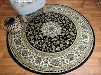 NEW Black traditiona rug 5 ft Round Baltimore