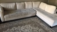 Sectional suede couch Austin, 78754