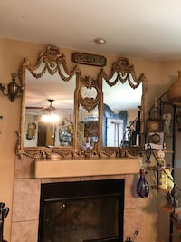 fireplace/wall mirror