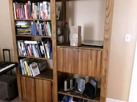 Book shelf with desk and printer table Harvest, 35749