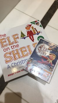 Elf on the shelf book and DVD and doll