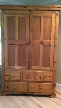 Pine Armoire height 77 inches, width 48 inches, depth 26 inches Warwick, 10990