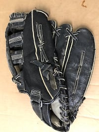 MacGregor BBMESHXX  Baseball Fielders Glove Left Hand Black